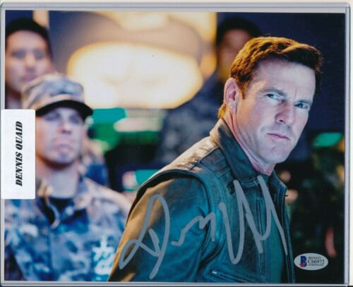 Dennis Quaid Auto Autograph Silver Ink BAS Beckett COA 8x10 The Rookie