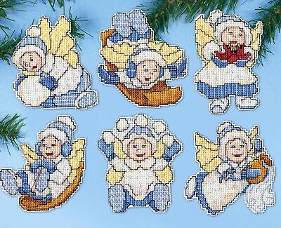 Cross Stitch Kit ~ Design Works Winter Angel Christmas Ornam