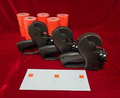 3x Avery Dennison Monarch 1136 Two-line Price-marking Labeler 5 Sleeve Labels