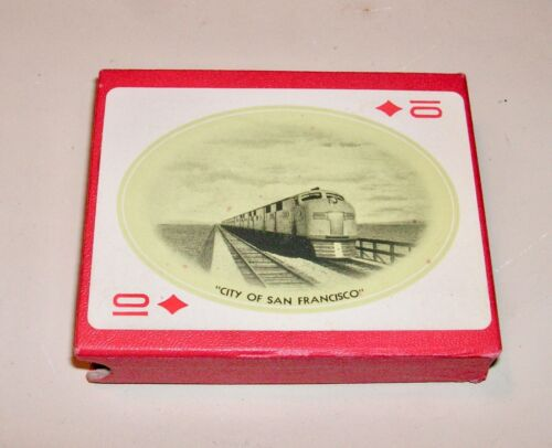 SOUTHERN PACIFIC LINES - Sunset Shasta Routes Playing Cards - Complete Set Box