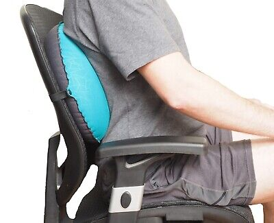 Inflatable Lumbar Back Support Cushion For Home Office Chair Car Seat Pillow