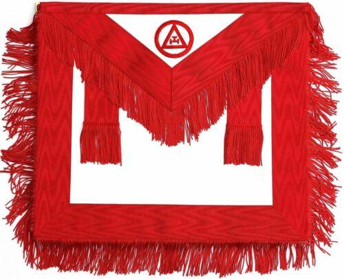 Masonic Royal Arch Member RAM Apron With Fringe ( LAMBSKIN LEATHER )
