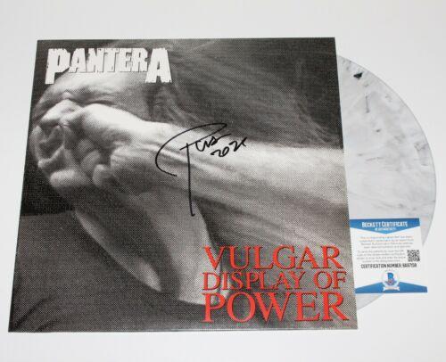 PANTERA PHIL ANSELMO SIGNED 'VULGAR DISPLAY OF POWER' ALBUM VINYL RECORD BAS COA