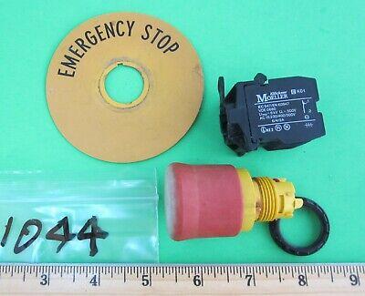 Klockner Moeller Red E-stop Button M22-pv Mechanically Held Push Pull 22mm