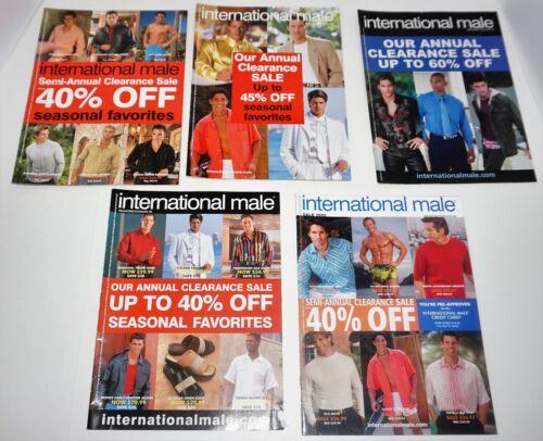 5 INTERNATIONAL MALE CATALOGS LOT (2000