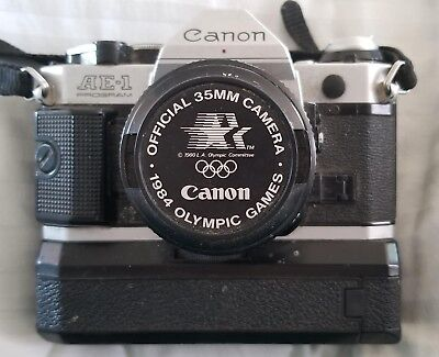 Canon ae-1 program 35mm slr film camera1984 Los Angeles Olympics Edition