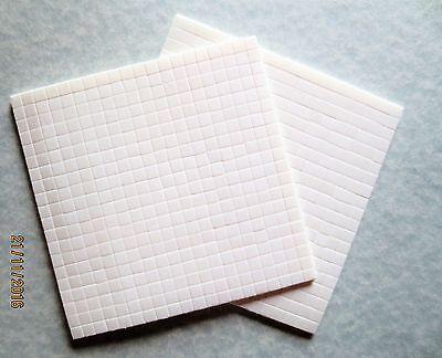 2 Stück, Schaumklebepads, Klebepads, 3D Foampads, doppels.kleb., weiß, 2 mm dick