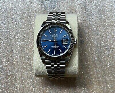 Brand New Rolex Datejust 41 126334 - Blue Dial White Gold Bezel Jubilee Bracelet