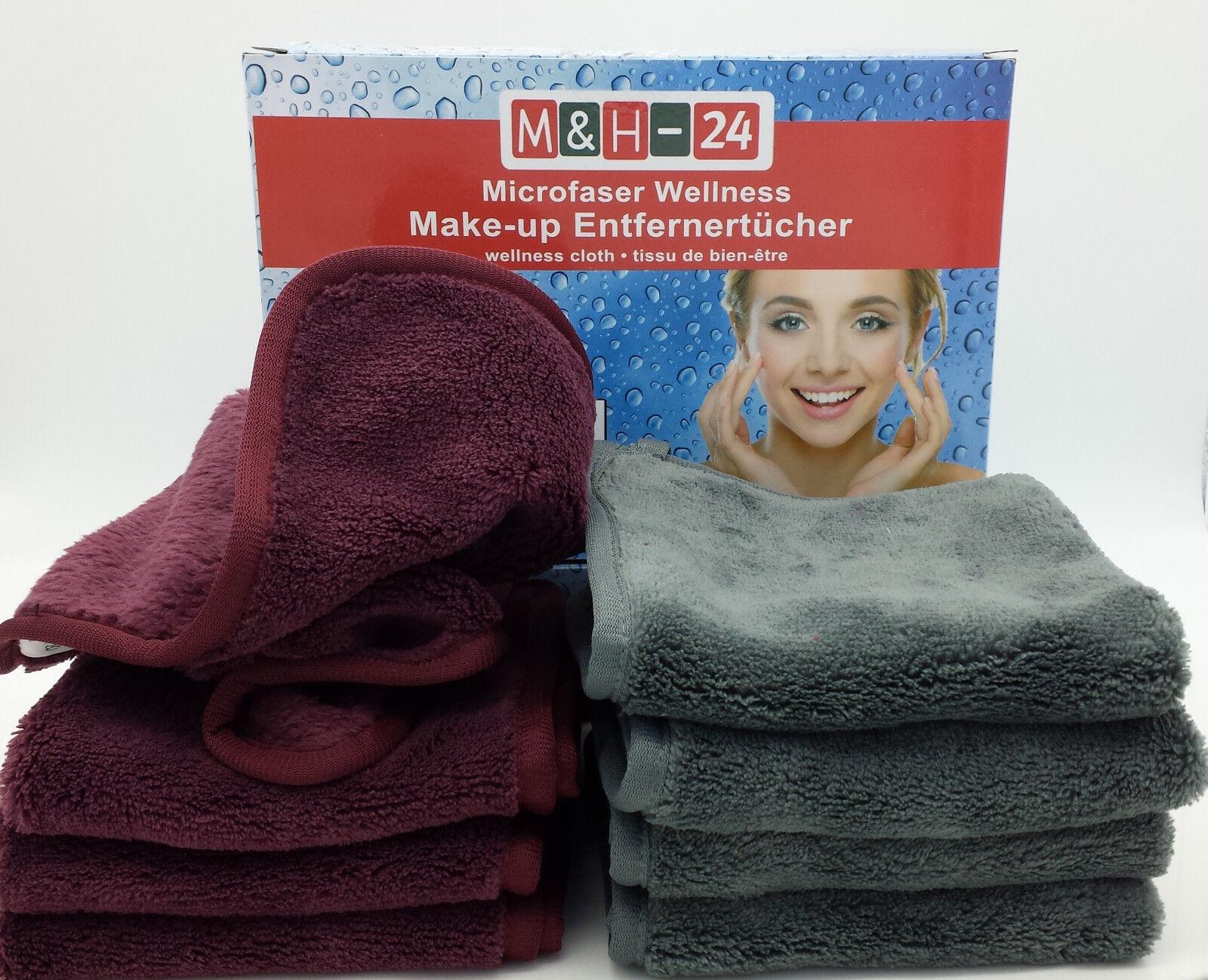 Mikrofaser Kosmetik Tücher 4er Set Abschmink Tuch Peeling Gesichtsreinigung