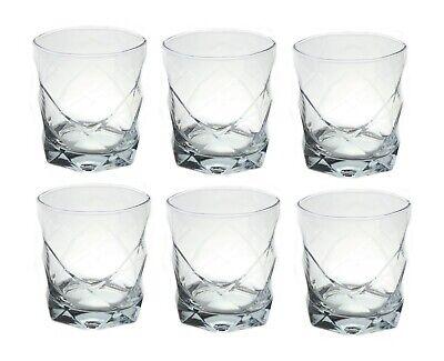 Vintage Whisky Glass Whiskey Rocks Tumblers Glasses 300ml x 6