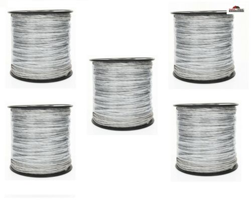 (5) Shock 656-ft Electric Fence Poly Wire Spool ~ NEW