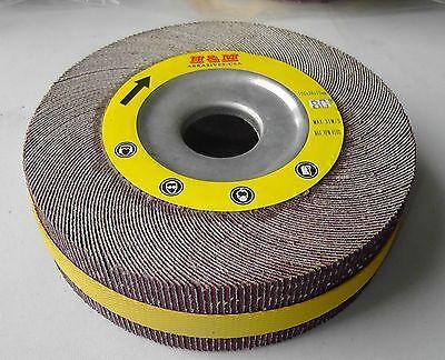 8-in Abrasive Flap Wheel 8x1x1 Aluminium Oxide 80 Grit Unmounted Sanding Disc