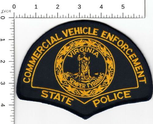 VIRGINIA STATE POLICE COMMERCIAL VEHICLE ENFORCEMENT LARGE PATCH VA