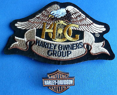 HARLEY DAVIDSON  HOG PATCH & MOTOR CYCLES Enamel Lapel Badge