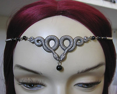 GOTH Medieval Greek SNAKE Renaissance MEDUSA Crown/CIRCLET/Headpiece - Medusa Halloween Headpiece