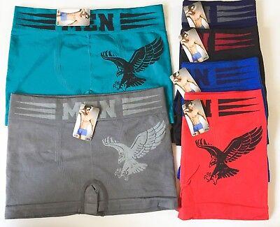 New 6 Pack Mens Underwear TAGLESS Boxer Briefs Comfort Flex Waistband (#C512) 6 Pack Briefs