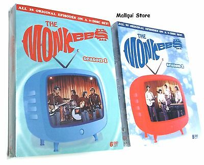 THE MONKEES COMPLETE SEASON 1 and 2, DVD BRAND NEW