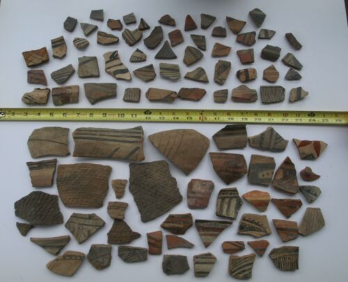 Native American Indian pottery shards collection lot