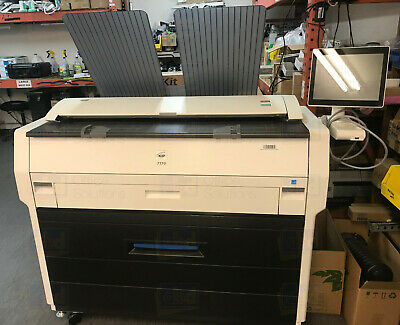 Kip 7170 36 Monochrome Bw Wide Format Printer Copier Scanner 2 Rolls