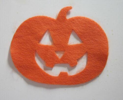 Jack-O-Lantern Pumpkin Felt Shape (pack of 4) Made in the USA