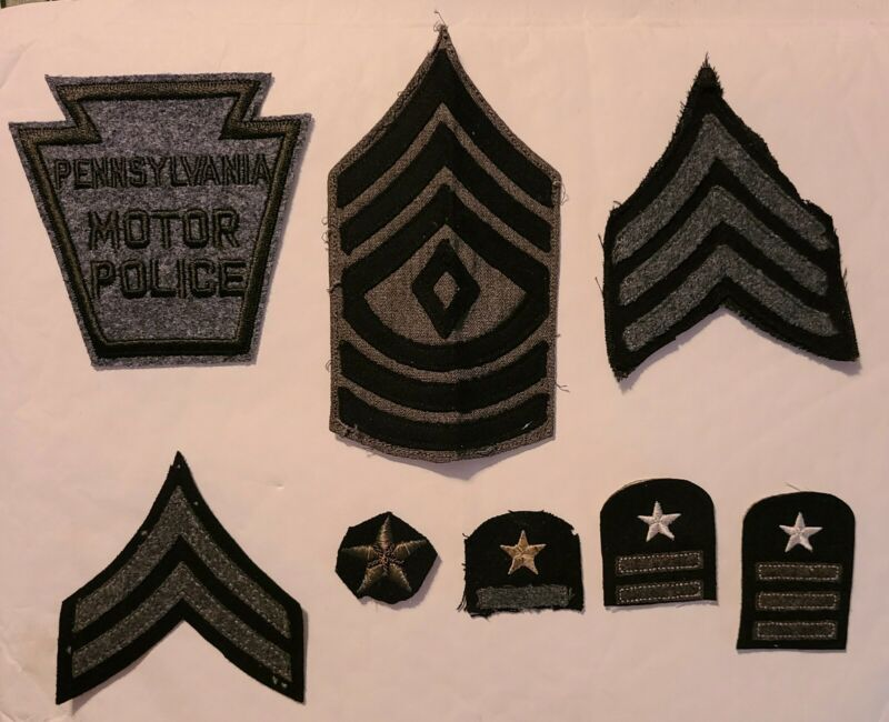 Pennsylvania State Motor Police. RARE 1st Sergeant, Sgt., Cpl. & Years Service