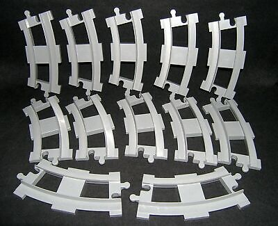 Lego Duplo Train Track Replacement Pieces - Curved Gray Grey - Lot of 12