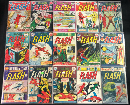 THE FLASH BRONZE AGE COMIC RUN #221-309 (GF-VF)