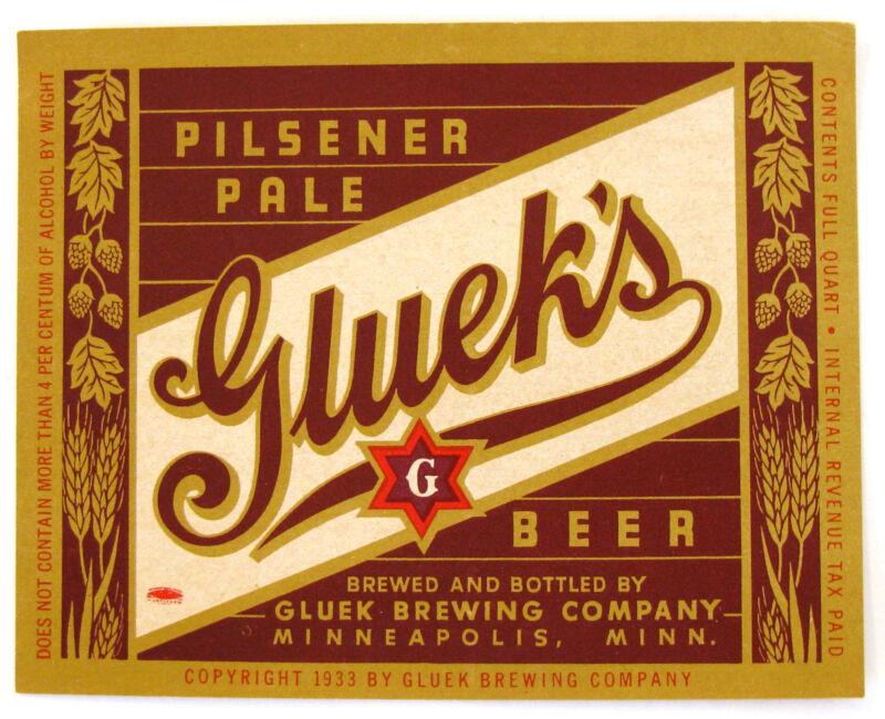 IRTP Gluek Brewing Co GLUEK
