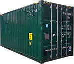 Shipping Container Set up for storage, Wilkes and Elmhurst