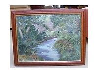 Kings Mills Bridge - Wrexham - North Wales Acryllic Painting