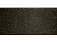 Black Granite Galaxy Glass Splashback
