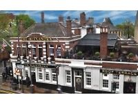 Bar staff needed for brilliant pub in Wimbledon SW19