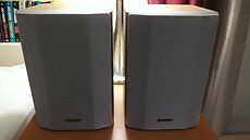 Sharp CP-MP 80H Light Wood Grain & Silver Bookshelf Speakers