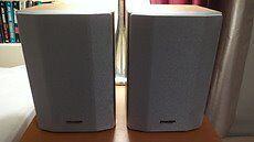 Sharp CP-MP 80H Light Wood Grain & Silver Bookshelf Speakers