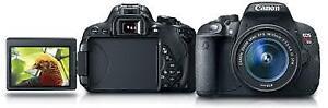 Canon t5i neuf avec 2 lentilles neuves et trepied sac ...