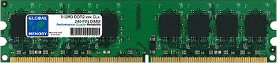 512MB DDR2 400/533/667/800MHz 240-PIN DIMM MEMORY RAM FOR DESKTOPS/PCs