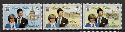 Anguilla 1981 Royal Wedding SG 464/6 MNH