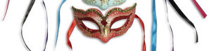 Childs / Kids Masquerade Ball Glitter Mask, Venetian Curved Eye Mask Fancy Dress