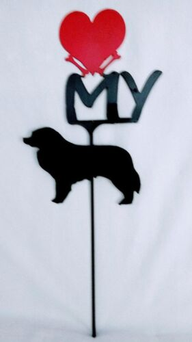Bernese Mountain Dog Love(heart) Yard Sign Metal Silhouette Made in the USA