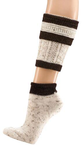Herren Trachtenstrümpfe Trachtensocken Loferl 2tlg (Wadenwärmer + Socken)  Wolle