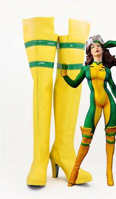 X-Men Ms. Rogue Anna Marie Cosplay Costume Kostüme Schuhe Shoe Stiefel boot - Rogue X Men Kostüm