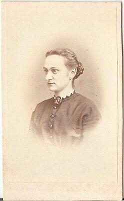 CDV photo Damenportrait - um 1870
