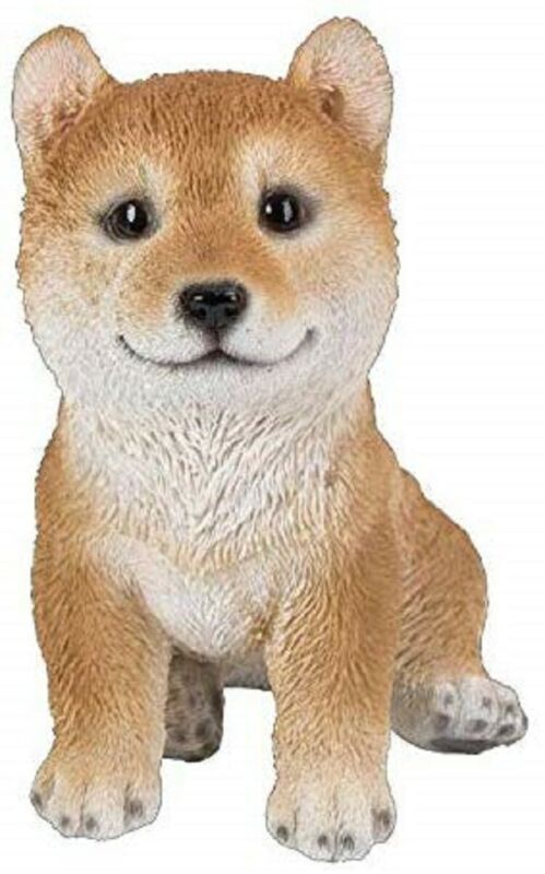 "Ebros Gift Realistic Japanese Doggy Shiba Inu Collectible Figurine Statue 6""H"