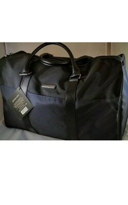 Michael Kors Large Jet Set Tote Duffle Travel Overnight Weekender Bag Black/Navy