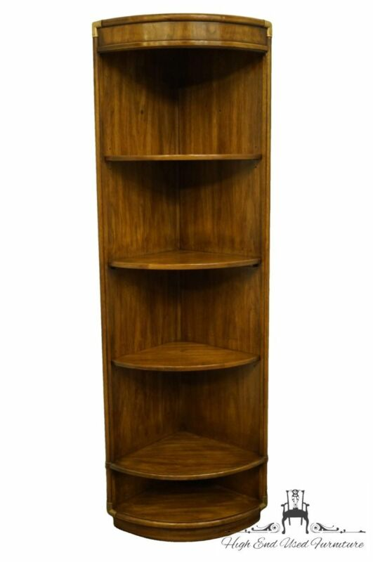 DREXEL FURNITURE Accolade Collection Campaign Style Corner Wall Unit / Bookcase