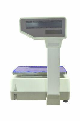 110v 30 Lb Digital Price Computing Scale Thermal Wirh Printer Market Shipping