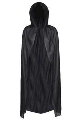 DELUXE HOODED BLACK DRACULA CAPE VAMPIRE 56