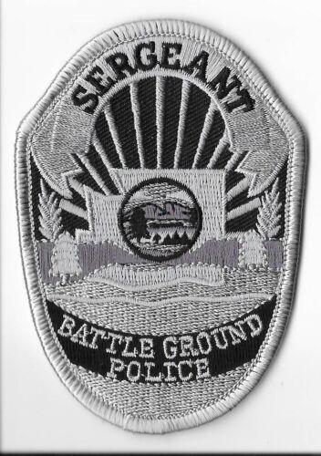 Battle Ground Police Department, Washington Sergeant Breast Patch