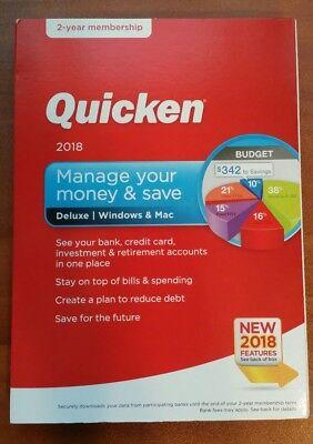 Quicken Deluxe 2018   Windows Mac   2 Year Subscription
