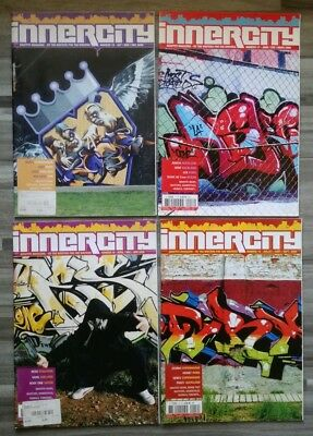 Paket 4 inner city Graffiti Hip Hop Magazine, sehr gut erhalten